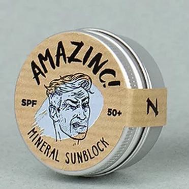 Mineral Sunblock Shallow Blue  SPF 50+ Amazinc