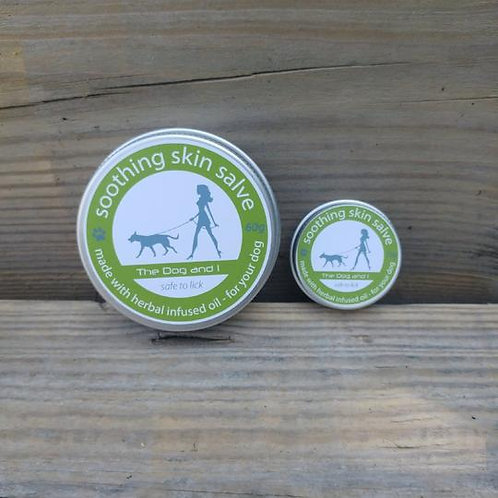 The Dog and I Soothing skin salve in aluminium tin
