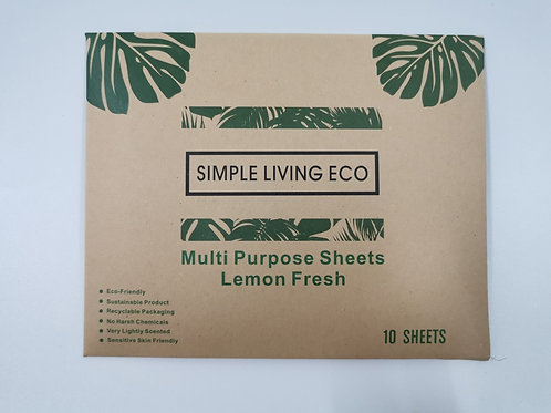 Multi Purpose Cleaning Sheets Pk 10 - Simple Living Eco