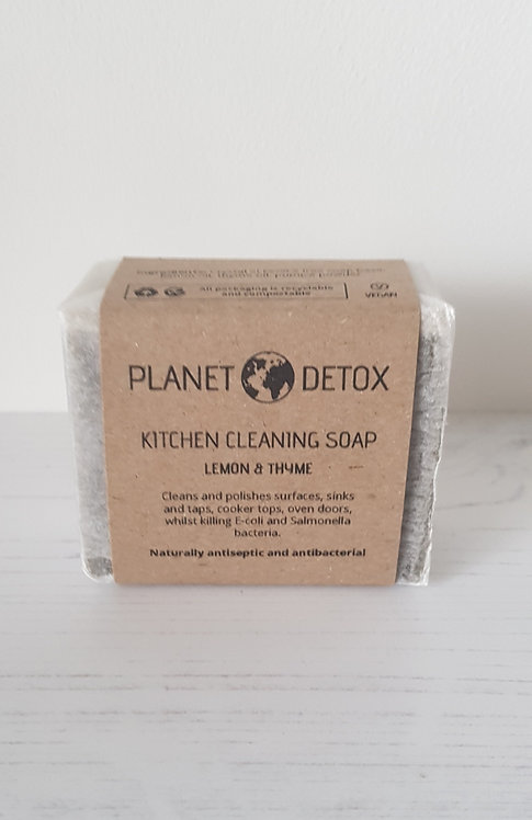 Planet Detox Kitchen cleaning soap bar lemon and thyme 175g
