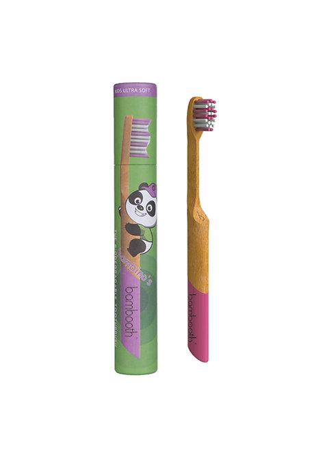Kids Bamboo Toothbrush - Coral Pink - Bambooth