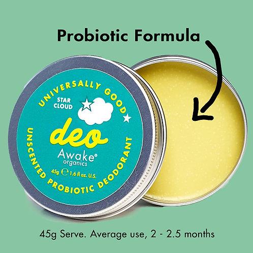 Awake Organics Unscented Natural Deodorant for Sensitive Skin