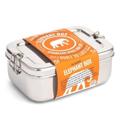 Elephant Box lunchbox stainless steel closed