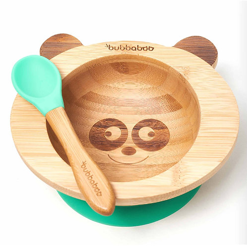 Organic Bamboo Baby Bowl Set - Green - Bubbaboo