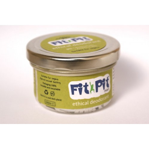 Fit Pit Man 100ml Natural Vegan & Plastic Free Deodorant