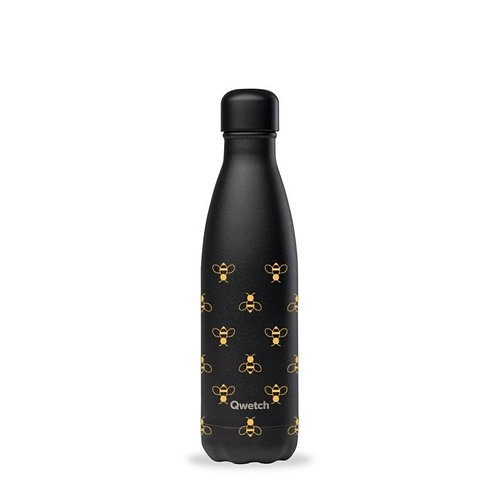 Qwetch Insulated stainless Steel All Black Bee Bottle 500ML