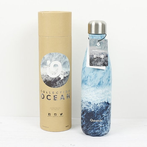 Insulated Stainless Steel Bottle in packaging 500ml Ocean Lover - Qwetch