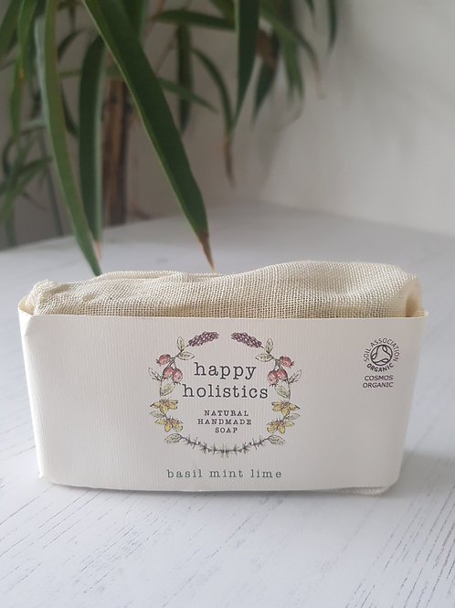 Happy Holisitics basil mint lime soap