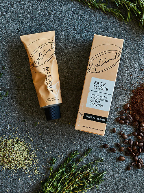 UpCircle Herbal Blend Coffee Face Scrub 100ml Flatlay