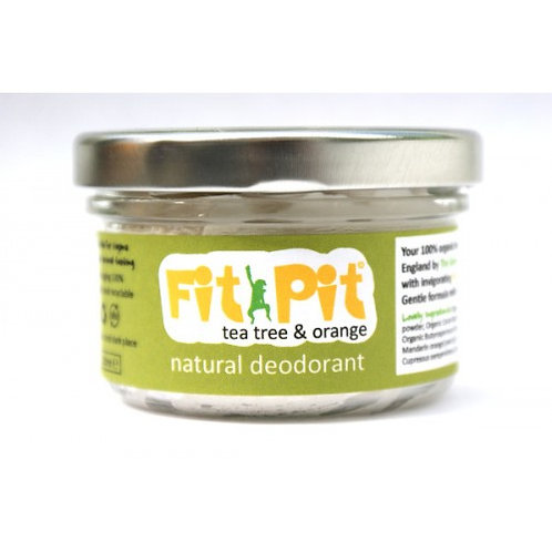 Fit Pit Tea Tree & Orange 100ml Natural Vegan & Plastic Free Deodorant