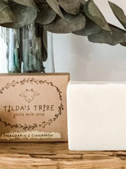 Mandarin & Cinnamon Natural Goats Milk Soap - Tilda's Tribe