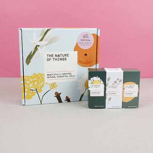 The Nature of Things Gift Set Box Sleep Well with 3 essential oils
