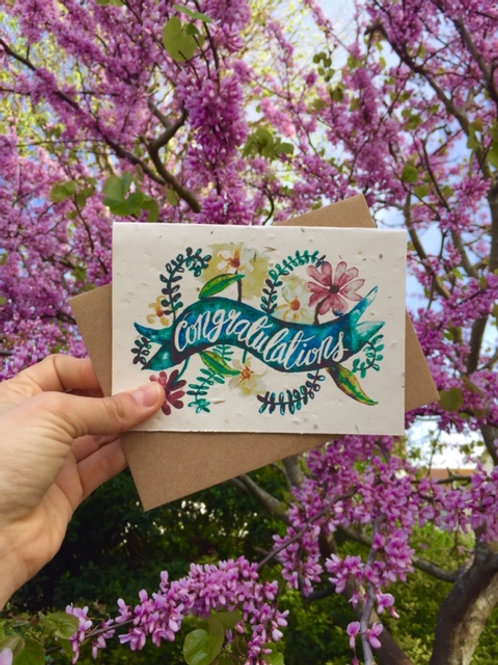 Loop Loop Congratulations Wildflower Plantable card