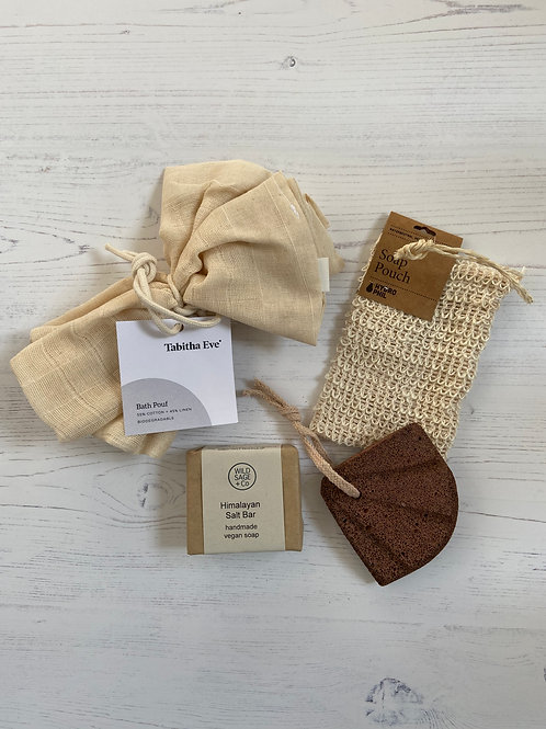 Mothers Day Eco Bathroom Gift Set - Tabitha Eve Wild Sage & Co Hydrophil