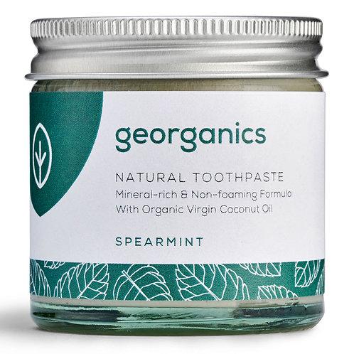 Georganics Spearmint Mineral Toothpaste in 60ml glass jar
