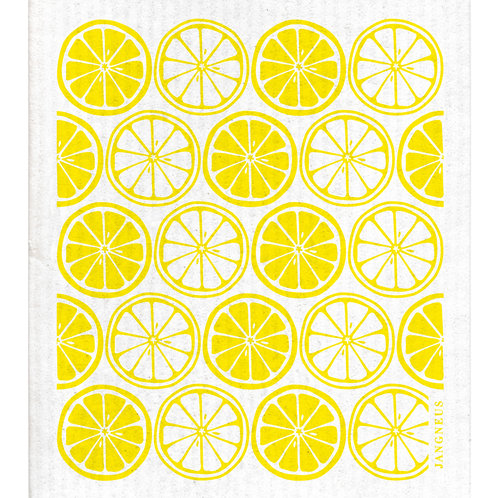 Yellow Citrus Compostable Dishcloth - Jangneus
