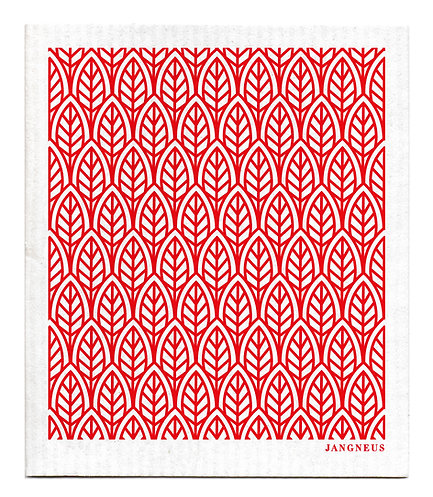 Red Leaves Compostable Dishcloth - Jangneus