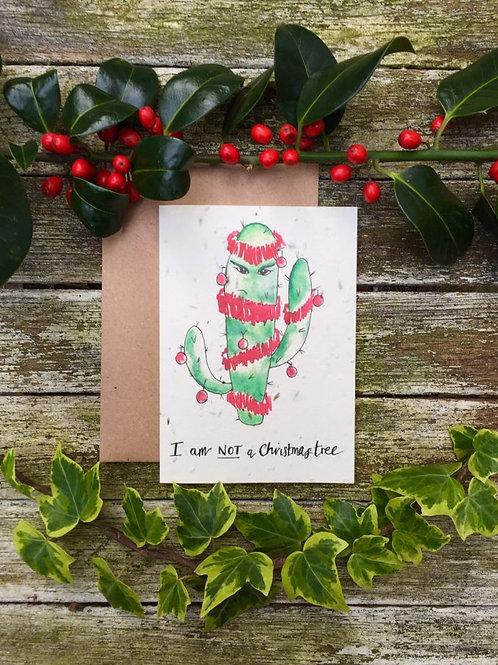 Loop Loop Christmas cactus wildflower plantable card with brown paper envelope