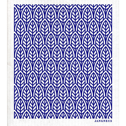 Blue Leaves Compostable Dishcloth - Jangneus