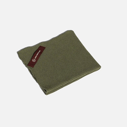 Organic Cotton Dish Towel by Zero Waste Club in Olive Green folded