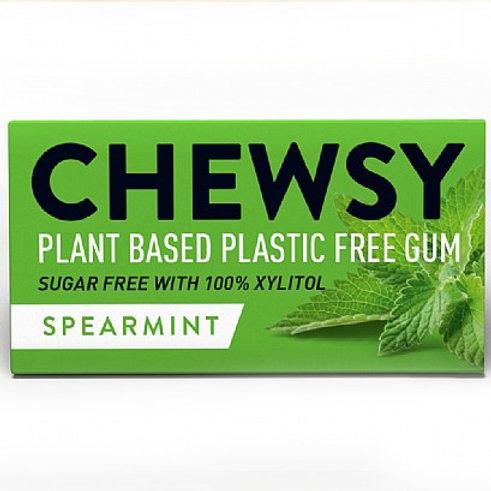 Chewsy Spearmint Plastic Free Plant Based Vegan Chewing Gum