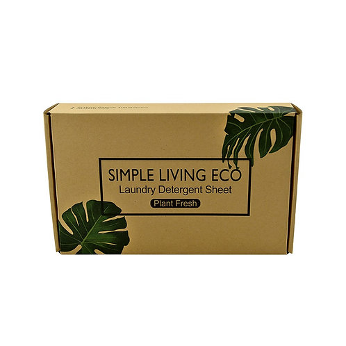 Laundry Detergent Sheets (Non Fragranced) 60 Sheets - Simple Living Eco