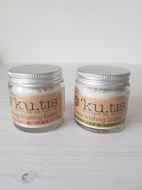 Kutis glass jar natural washing grains