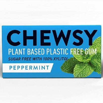 Chewsy Peppermint Plastic Free Vegan Plant Based Chewing Gum