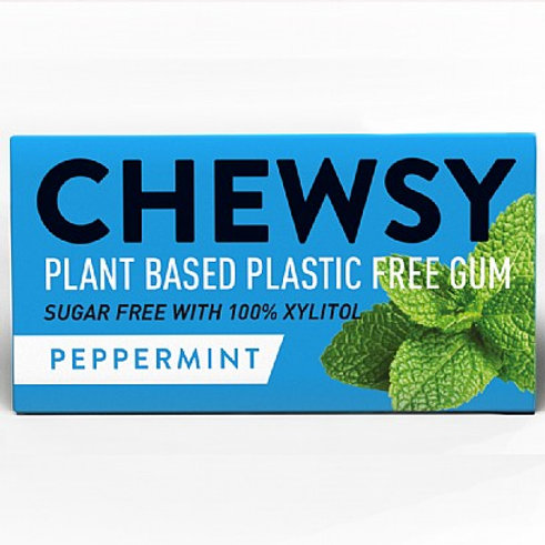 Chewsy peppermint plastic free plant based chewing gum