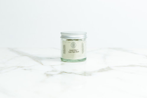 Green Clay & Kelp Face Mask - Wild Sage & Co