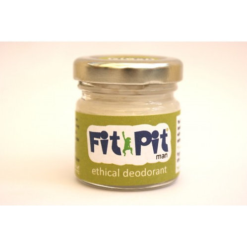 Fit Pit Man 25ml Natural Vegan Plastic Free Deodorant