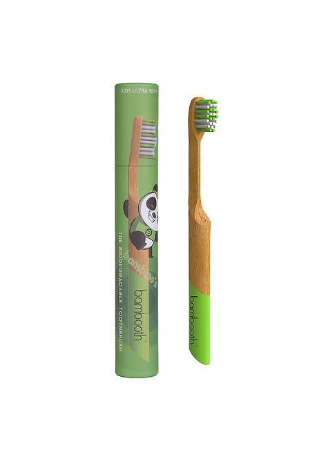 Kids Bamboo Toothbrush - Forest Green - Bambooth