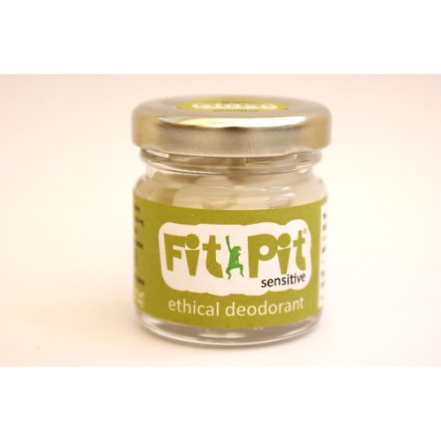 Fit Pit Sensitive 25ml Natural Vegan  Plastic FreeDeodorant