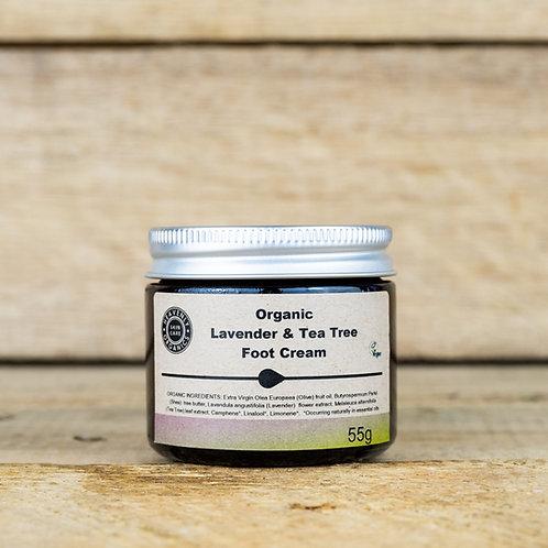 Organic Lavender & Tea Tree Foot Cream - Heavenly Organics