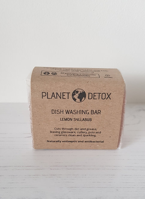 Planet Detox dish washing soap bar lemon syllabub 175g