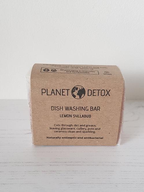 Planet Detox dish washing soap bar lemon syllabub 175g
