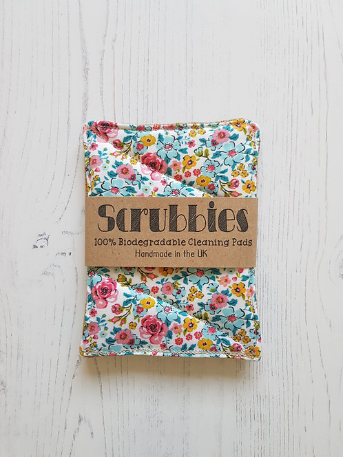 Scrubbies UK Unsponges ditsy flower twin pack