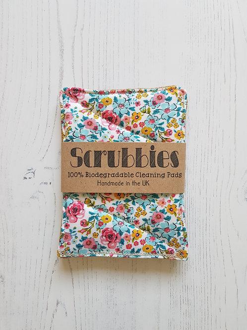 Scrubbies UK Unsponges ditsy flower twin pack