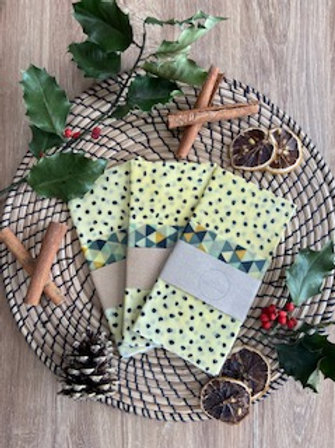 Amber & Bumble Pack of Beeswax Food Wraps