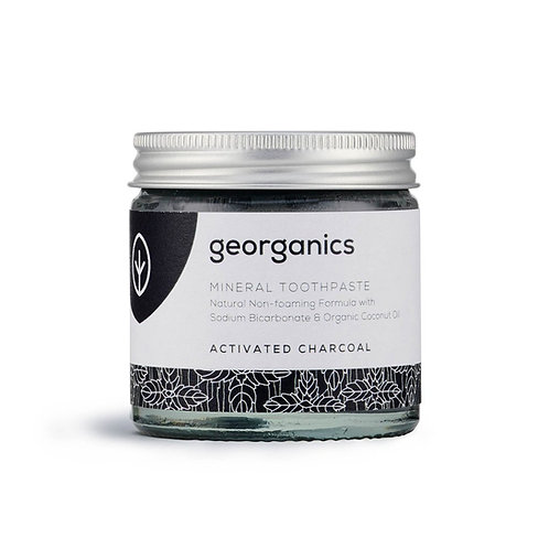 Activated Charcoal Natural Toothpaste 60 ML Georganics in Glass Jar