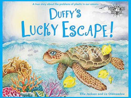 Duffy's Lucky Escape Children's Environmentally Friendly Book Signed by Ellie Jackson