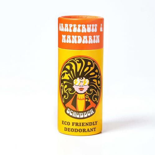 Scrubber Natural Vegan Deodorant Grapefruit & Mango Front View
