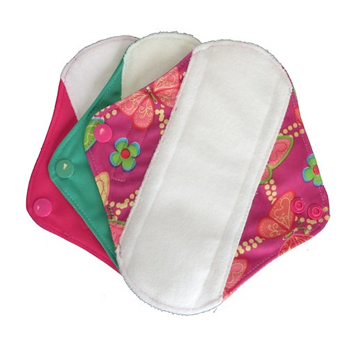 Earthwise Girls reusable set of sanitary pads small size pack of 3