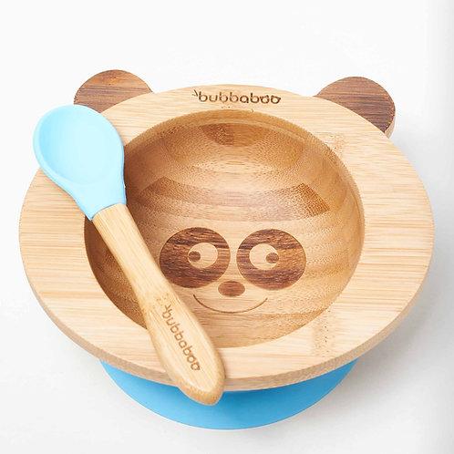 Organic Bamboo Baby Bowl Set - Blue - Bubbaboo