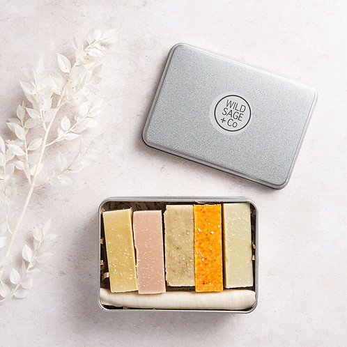 Wild Sage & co 5 Gift Set Box of Handmade Vegan Soap