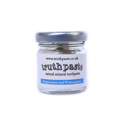 Truthpaste 40g glass jar natural mineral peppermint and wintergreen