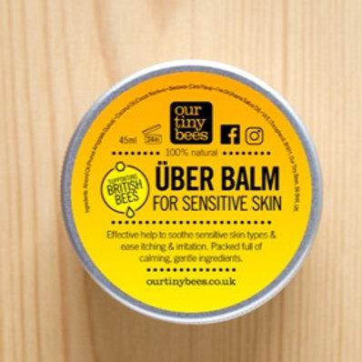 Our Tiny Bees Sensitive Uber Balm in aluminium tin