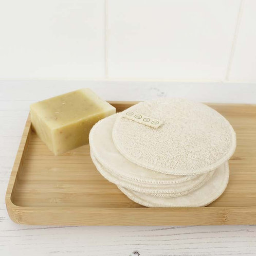 A Slice Of Green - Organic Cotton Facial Pads 5 Pk in bathroom