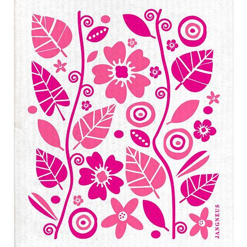 Pink Garden Compostable Dishcloth - Jangneus