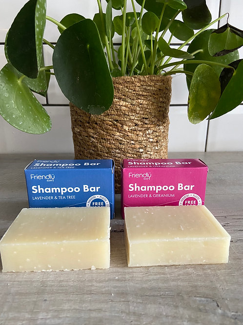 Solid Shampoo Bars with box packaging - Friendly Soap